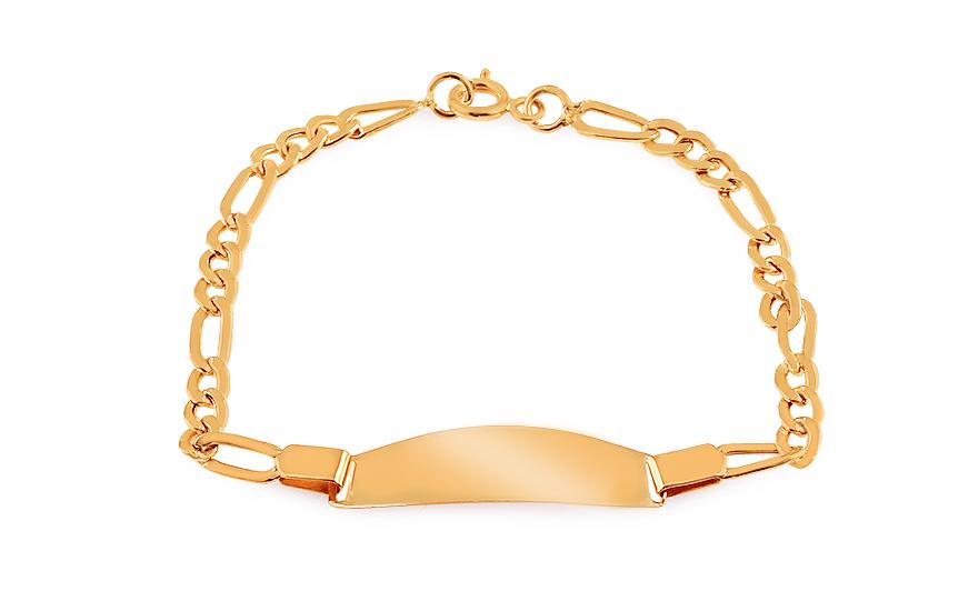 1cb2f1781 Zlatý detský náramok s platničkou, pre deti (IZ14719) | iZlato.sk