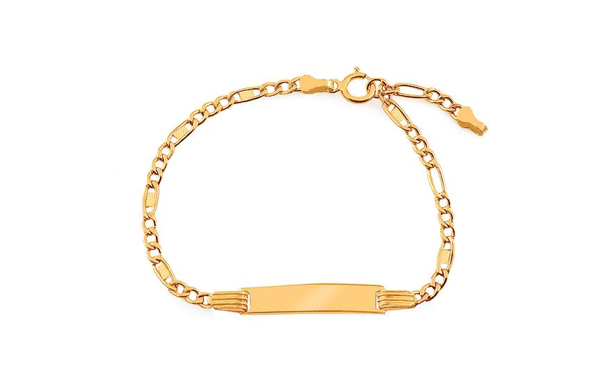 825b30668 Zlatý detský náramok s platničkou, pre deti (IZ17899) | iZlato.sk