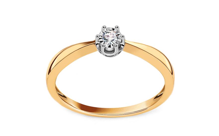 Zlatý diamantový zásnubný prsteň 0.050 ct Wynona 4 fad888e6b43
