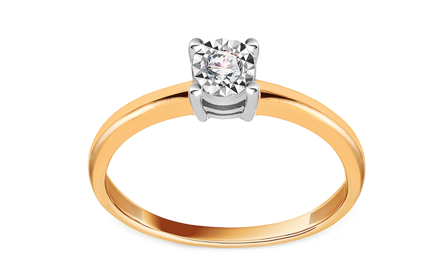 Zlatý diamantový zásnubný prsteň 0.060 ct 976c3ef663f