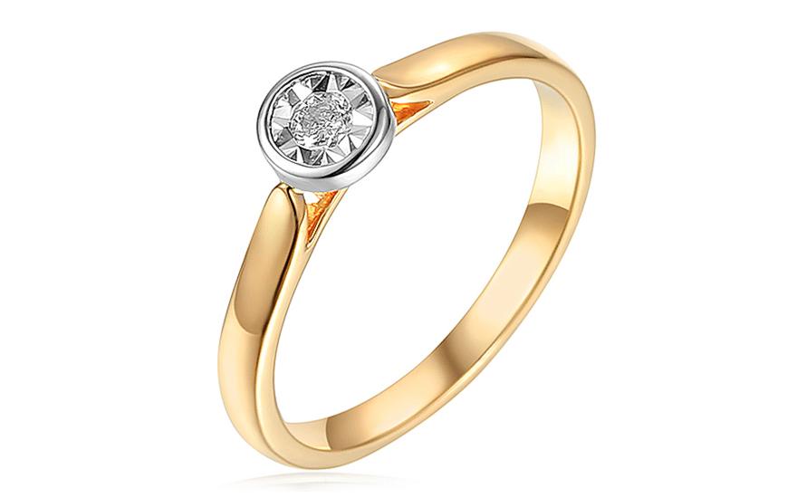 Zlatý diamantový zásnubný prsteň 0.090 ct 1ff28576d1e
