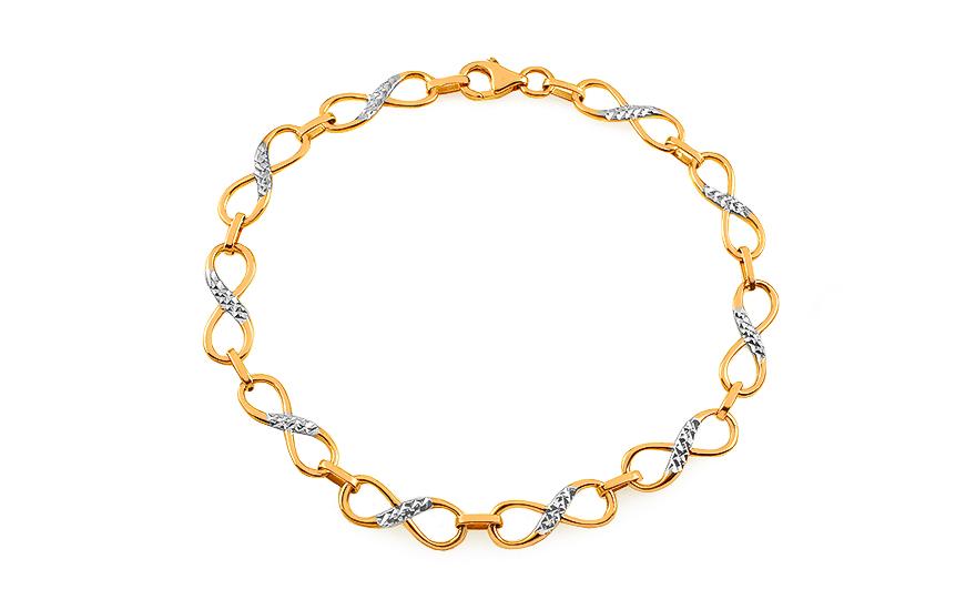170c2d00b Zlatý dvojfarebný náramok nekonečno, pre ženy (IZ10650) | iZlato.sk