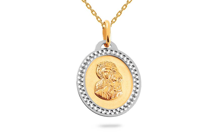 Zlatý dvojfarebný prívesok Madonka c8b01fa0b7f