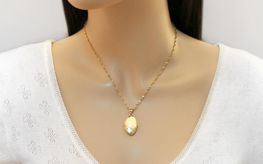 Zlatý gravírovaný medailón na fotku (IZ11490)  043886916d6