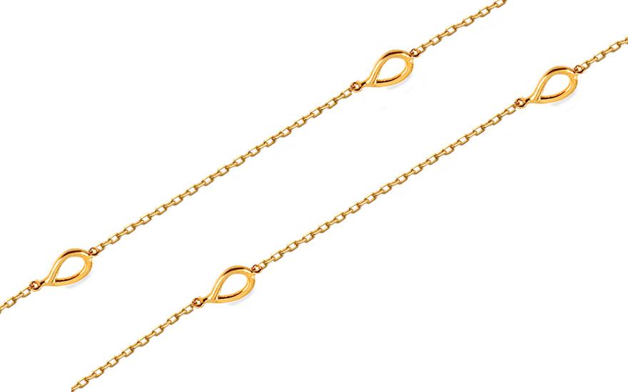 e1d8b2d54 Zlatý náhrdelník Choker s kvapkami, pre ženy (IZ14343) | iZlato.sk