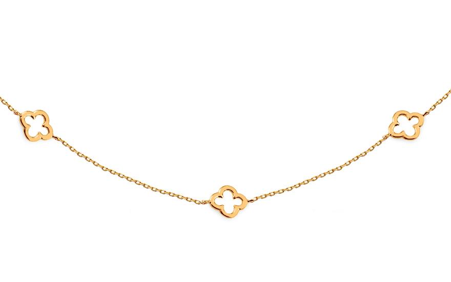 741b151ff Zlatý náhrdelník Choker so štvorlístkami, pre ženy (IZ14340) | iZlato.sk