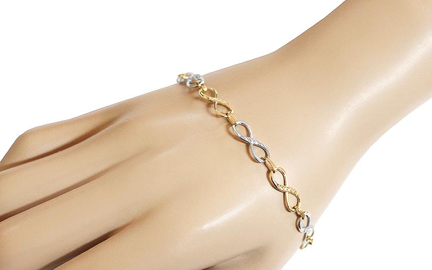 58eaa5746 Zlatý náramok Infinity s gravírom, pre ženy (IZ11149) | iZlato.sk