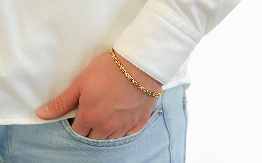 e79da16ab Zlatý náramok Kráľovský vzor 3,2 mm, pre mužov (IZ18501N)   iZlato.sk
