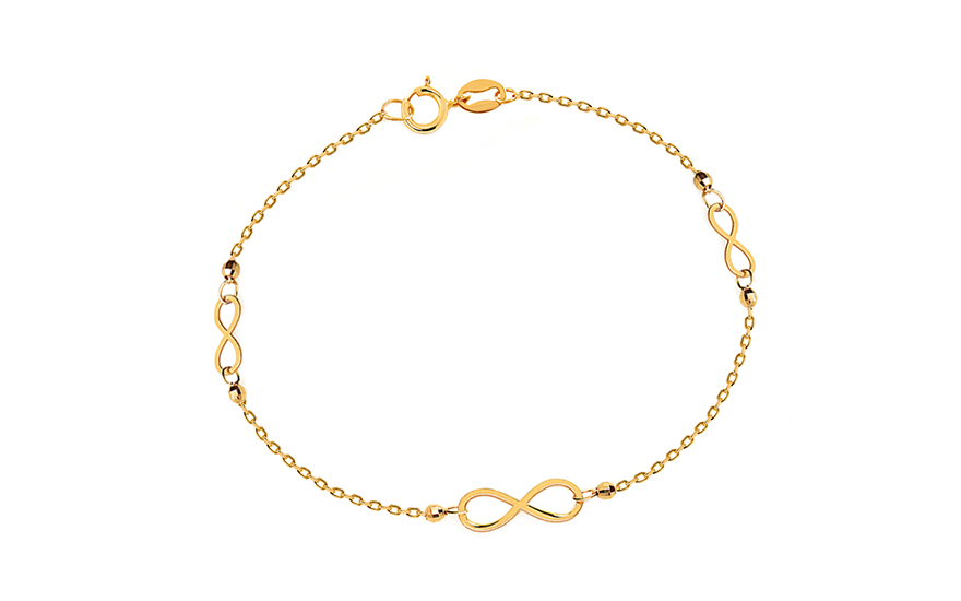 98cc391b3 Zlatý náramok nekonečno, pre ženy (IZ11198N) | iZlato.sk