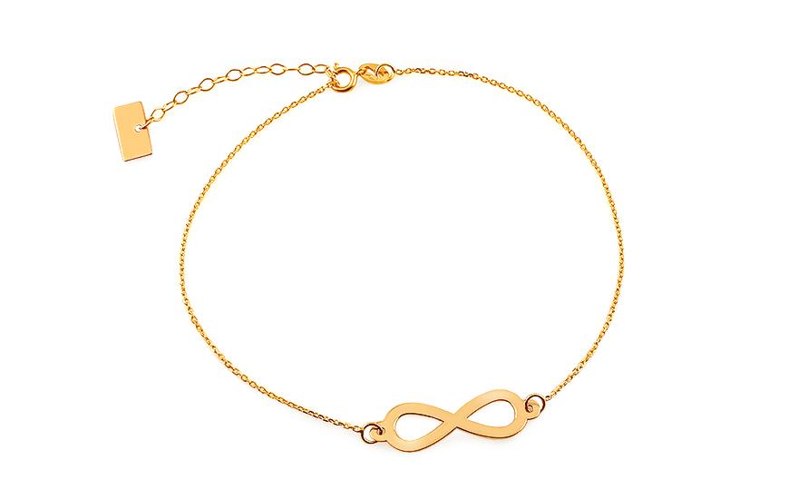 a548f8a73 Zlatý náramok retiazka Infinity 1, pre ženy (IZ7084) | iZlato.sk