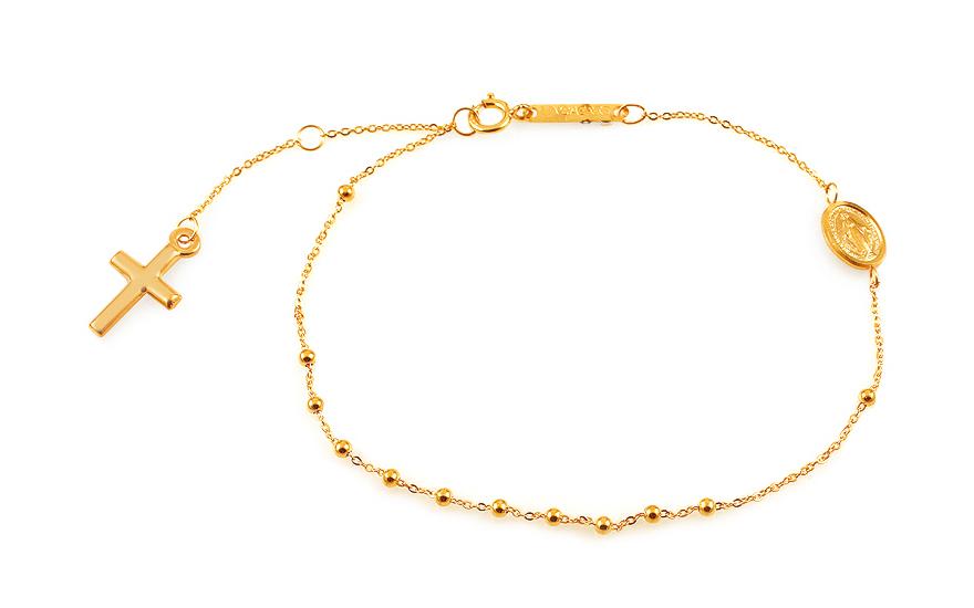 Zlatý náramok ruženec 997045d57d6