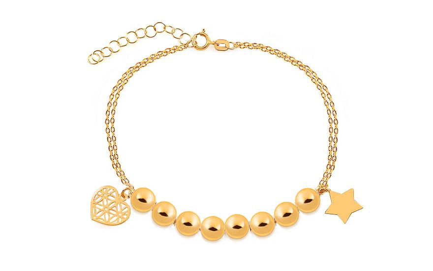 451b4c7f7 Zlatý náramok s hviezdou a srdiečkom Palmyra, pre ženy (IZ17372 ...