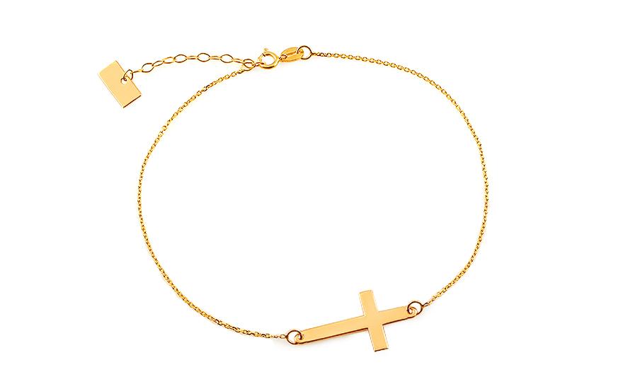 Zlatý náramok s krížikom Celebrity 23387e4cfb5