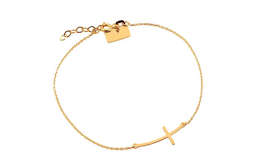 Zlatý náramok s krížikom Celebrity 88f3a9e4524