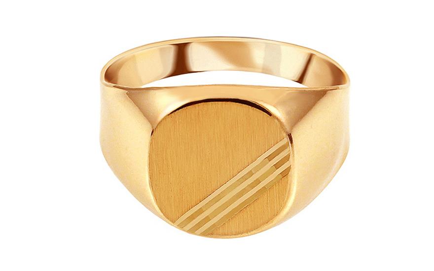 8a9652810 Zlatý pánsky pečatný prsteň s matovaním, pre mužov (IZ15530) | iZlato.sk
