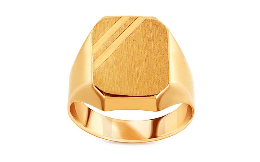 bd2b80d7f Zlatý pánsky pečatný prsteň s matovaním, pre mužov (IZ15529) | iZlato.sk