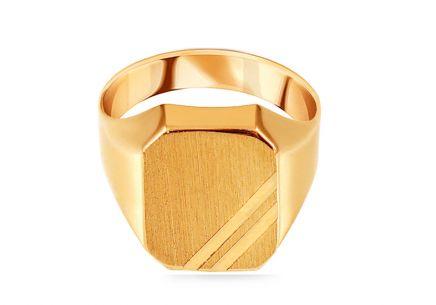 Zlatý pánsky pečatný prsteň s matovaním 98d5b710fbf
