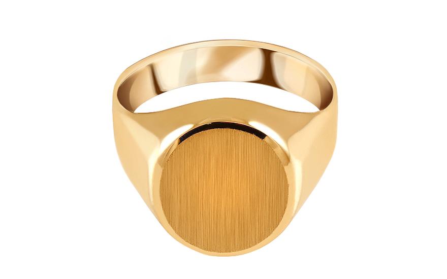 f70117572 Zlatý pánsky pečatný prsteň s matovaním, pre mužov (IZ15771) | iZlato.sk