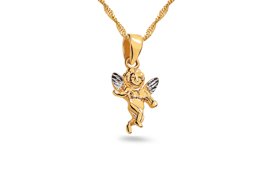Zlatý prívesok anjelik IZ3655Y