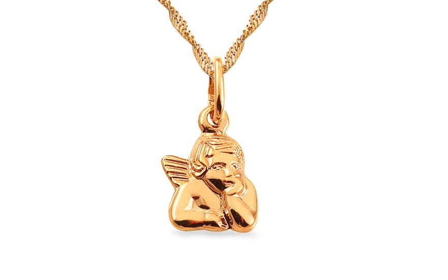 Zlatý prívesok Anjelik IZ14004