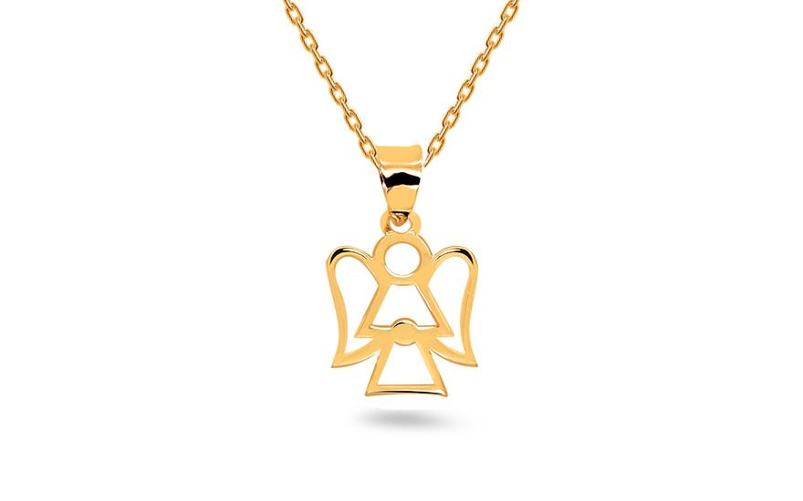 Zlatý prívesok anjelik IZ14599