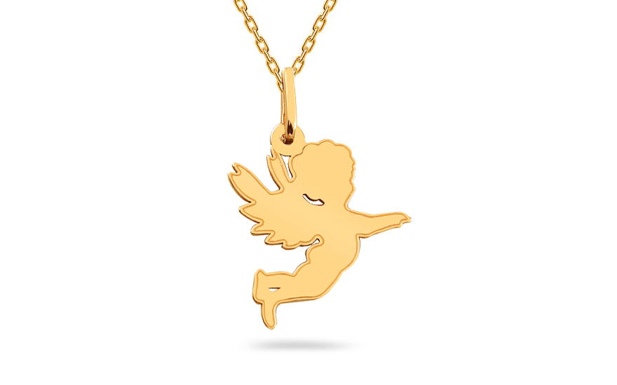 Zlatý prívesok Anjelik IZ17285