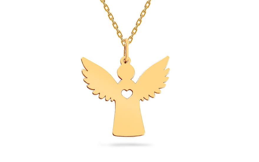 Zlatý prívesok Anjelik IZ17286