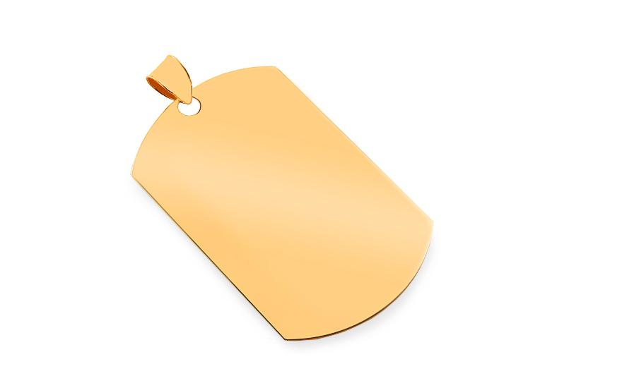9133256ed Zlatý prívesok na gravírovanie Platnička (IZ18780) | iZlato.sk