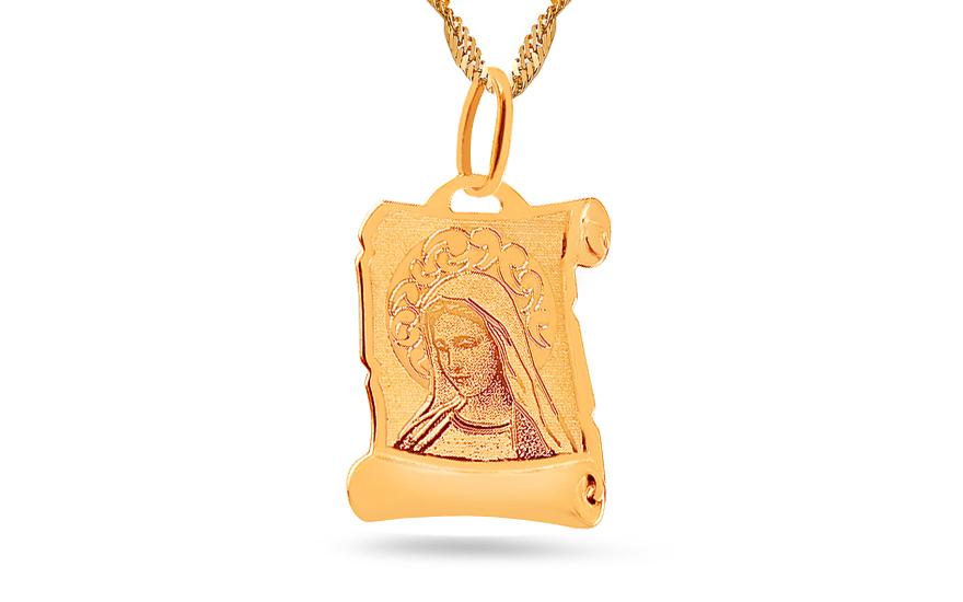 Zlatý prívesok Panna Mária na platničke 525e2ef629f