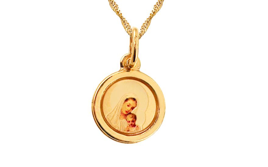 Zlatý prívesok Panna Mária s dieťatkom 5b75a35afe5