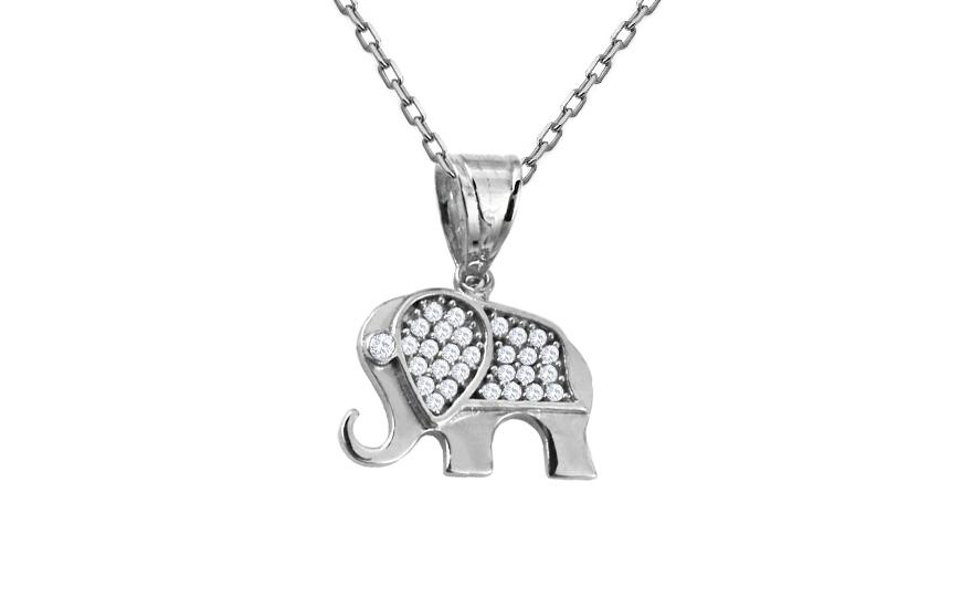 6bf8ea180 Zlatý prívesok sloník so zirkónmi, pre ženy (IZ10515A) | iZlato.sk