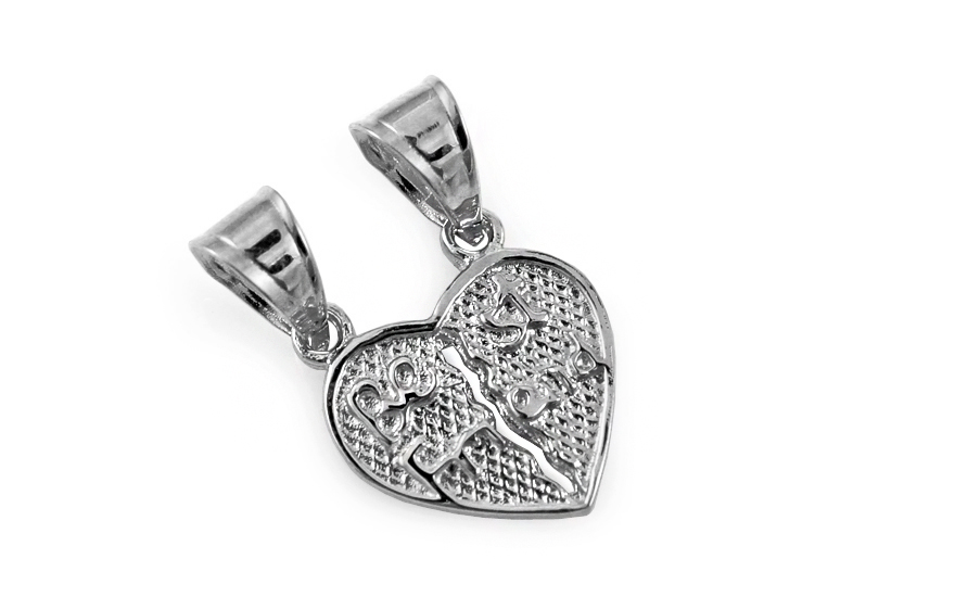 189a2411c Zlatý prívesok srdce pre dvoch Best Friend, pre ženy (IZ10604A ...