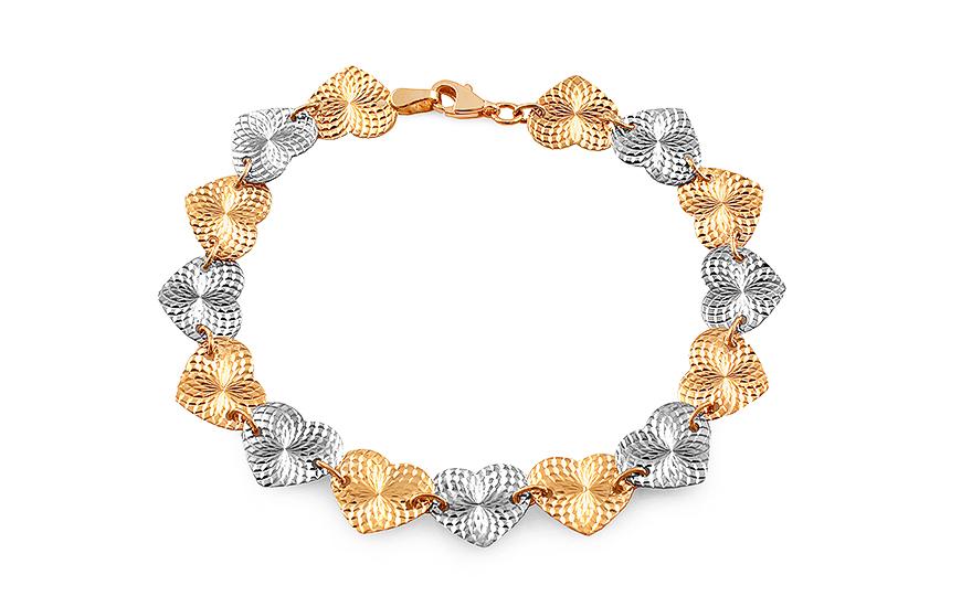 b57c36f62 Zlatý srdiečkový náramok, pre ženy (IZ7774)   iZlato.sk