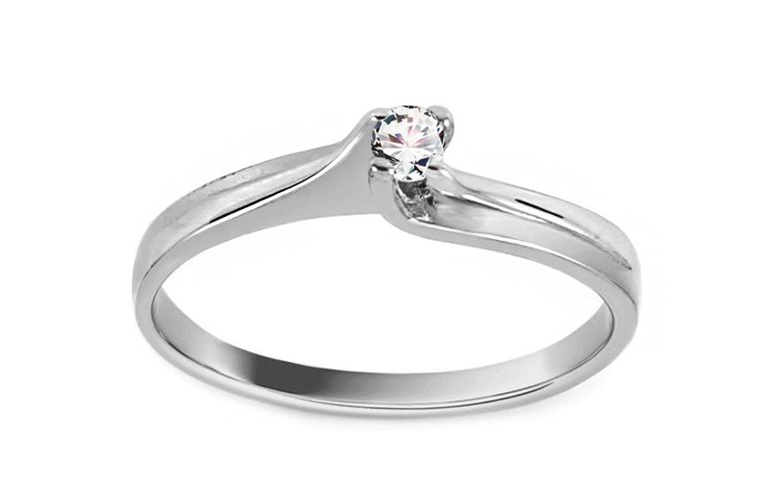 Zlatý zásnubný prsteň Princess 7 e858602d5bc