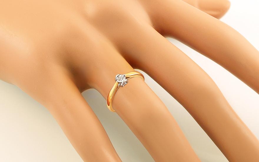 Zlatý zásnubný prsteň s diamantom 0.060 ct Layra 2 283a84c9e9a