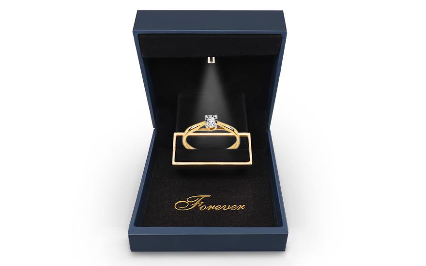 Zlatý zásnubný prsteň s diamantom 0.080 ct Aubrey 205b43f24fb