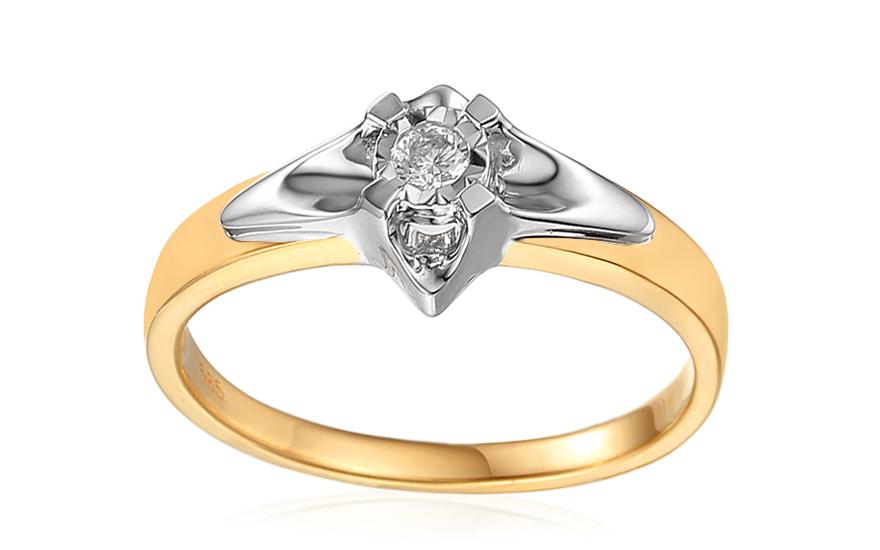 Zlatý zásnubný prsteň s diamantom 0.090 ct Always 391946b2255