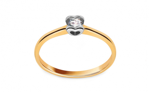 Zlatý zásnubný prsteň s diamantom 0.100 ct Power Of Love 10 - LRBR032YW