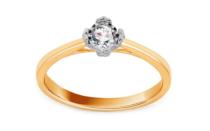 373c453bd Zlatý zásnubný prsteň s diamantom 0.150 ct Mirielle, pre ženy ...