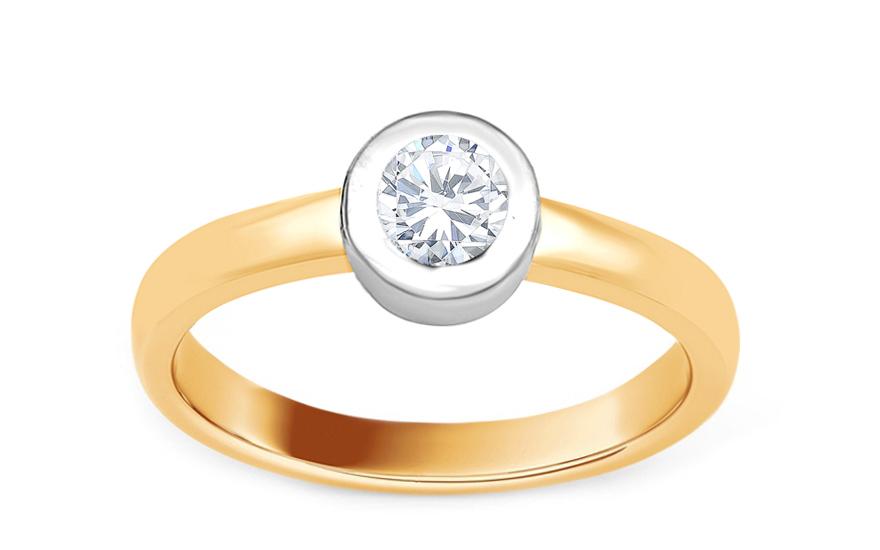 c4713c1f0 Zlatý zásnubný prsteň s diamantom 0.260 ct Alma, pre ženy (KU501 ...