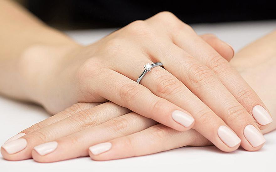 Zlatý zásnubný prsteň s diamantom Belen white c6000e30353