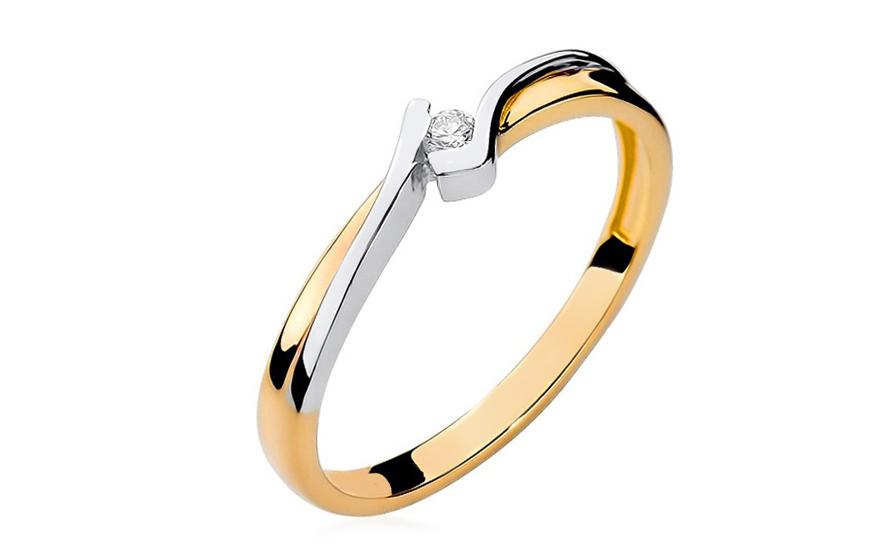 Zlatý zásnubný prsteň s diamantom Devra bfb3562f7f2