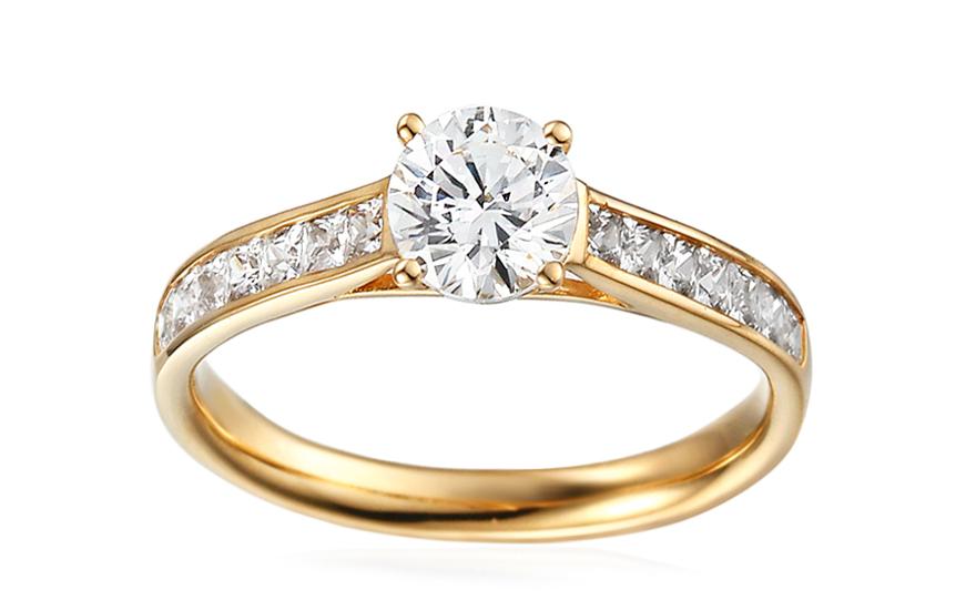 Zlatý zásnubný prsteň so zirkónmi Loria 272d7950382