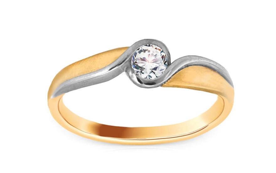 Zlatý zásnubný prsteň so zirkónom Elise 6 c41e16a11a1